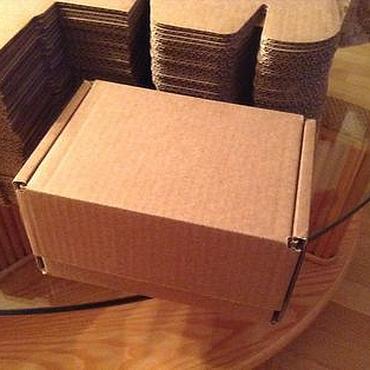 Материалы для творчества ручной работы. Ярмарка Мастеров - ручная работа Коробки: Коробка 17х12х10 см, самосборная, крафт. Handmade.