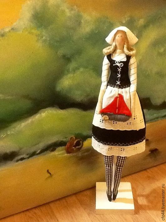 Куклы Тильды ручной работы. Ярмарка Мастеров - ручная работа. Купить Кукла Тильда Ассоль ждет Алые паруса. Handmade.