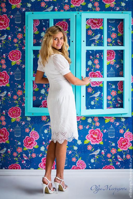 """Платья ручной работы. Ярмарка Мастеров - ручная работа. Купить Платье """"Нежность"""". Handmade. Белый, белое платье, платье с вышивкой"""