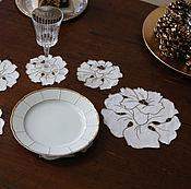 Винтаж handmade. Livemaster - original item Set of 12 napkins original form. Handmade.