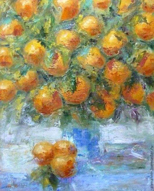 Современная живопись Картина маслом Апельсины Алена Кузнецова