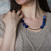 Украшения handmade. Livemaster - original item Statement necklace,lapis lazili necklace,lapis necklace. Handmade.