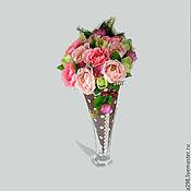 Цветы и флористика ручной работы. Ярмарка Мастеров - ручная работа Букет из конфет в кульке. Handmade.