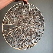 Фотокартины ручной работы. Ярмарка Мастеров - ручная работа Карта города Франкфурт на Майне. мира. Handmade.