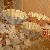 """Посуда ручной работы. Ярмарка Мастеров - ручная работа конфетницы"""" Нежное суфле"""". Handmade."""