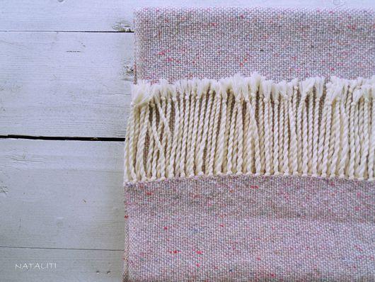 Шарфы и шарфики ручной работы. Ярмарка Мастеров - ручная работа. Купить Шарф Tweed Rose меринос/твид. Handmade. Разноцветный, домоткань