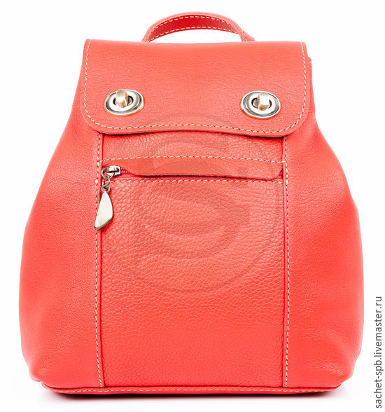 Backpack leather Palermo red, Backpacks, St. Petersburg,  Фото №1
