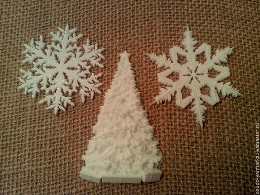 Открытки и скрапбукинг ручной работы. Ярмарка Мастеров - ручная работа. Купить Декоративные элементы для творчества 3D  Новый год и Рождество. Handmade.