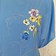 Блузки ручной работы. Ярмарка Мастеров - ручная работа. Купить вышитая шелком заготовка на платье или тунику. Handmade. Голубой