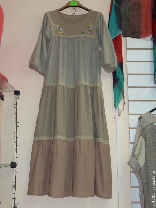 Платье льняное размер 44-48