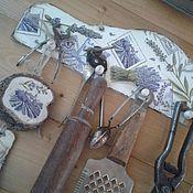 Для дома и интерьера ручной работы. Ярмарка Мастеров - ручная работа Вешалка  лавандовые зарисовки. Handmade.