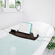 Для дома и интерьера handmade. Livemaster - original item Aquala Walnut Bathroom Shelf. Handmade.