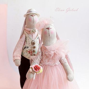 """Куклы и игрушки ручной работы. Ярмарка Мастеров - ручная работа Тильды: Свадебные зайки """"Утренняя заря"""". Handmade."""