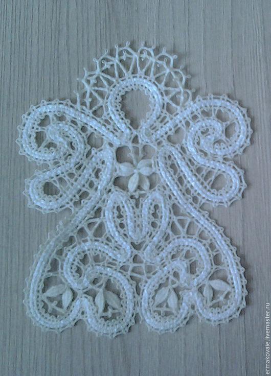 Сувениры ручной работы. Ярмарка Мастеров - ручная работа. Купить Ангел. Handmade. Белый, лен, ангел, вологодское кружево