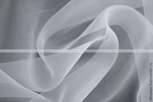 Ткань для цветов ручной работы. Ярмарка Мастеров - ручная работа. Купить Органза шелковая. Handmade. Белый, цветы из шелк, органза