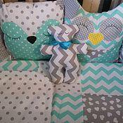 Для дома и интерьера handmade. Livemaster - original item Bumpers in the crib quilt as a gift. Handmade.