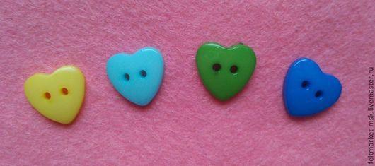 Пуговицы `Сердце мини` 4 цвета Размер 14 мм Стоимость 4 руб./шт. При заказе указывайте нужный цвет и количество!