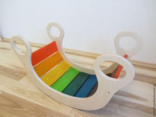 Детская ручной работы. Ярмарка Мастеров - ручная работа. Купить Детская качалка Радуга. Handmade. Разноцветный, для детей, подарок для девочки