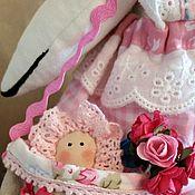 Куклы Тильда ручной работы. Ярмарка Мастеров - ручная работа Тильда- аист с младенцем. Handmade.