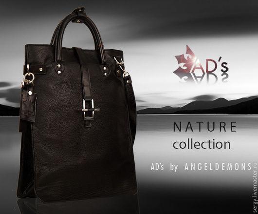 Мужские сумки ручной работы. Ярмарка Мастеров - ручная работа. Купить Сумка пакет Package Bag Nature Black. Handmade.