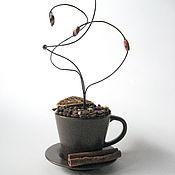 Подарки к праздникам ручной работы. Ярмарка Мастеров - ручная работа Кофейные истории - интерьерная композиция. Handmade.