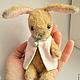 Мишки Тедди ручной работы. Ярмарка Мастеров - ручная работа. Купить Зайка 10,5 см  Флёри. Handmade. Желтый