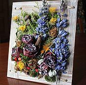 """Картины ручной работы. Ярмарка Мастеров - ручная работа Картина из сухоцветов """"Полисадник"""". Handmade."""