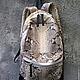 Рюкзаки ручной работы. Заказать Рюкзак Vbags из натуральной кожи питона. Vbags. Ярмарка Мастеров. Модный рюкзак, рюкзак для девушки