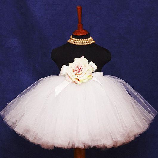 """Одежда для девочек, ручной работы. Ярмарка Мастеров - ручная работа. Купить """"Белое облако"""" длинная пышная юбка-пачка из фатина. Handmade."""