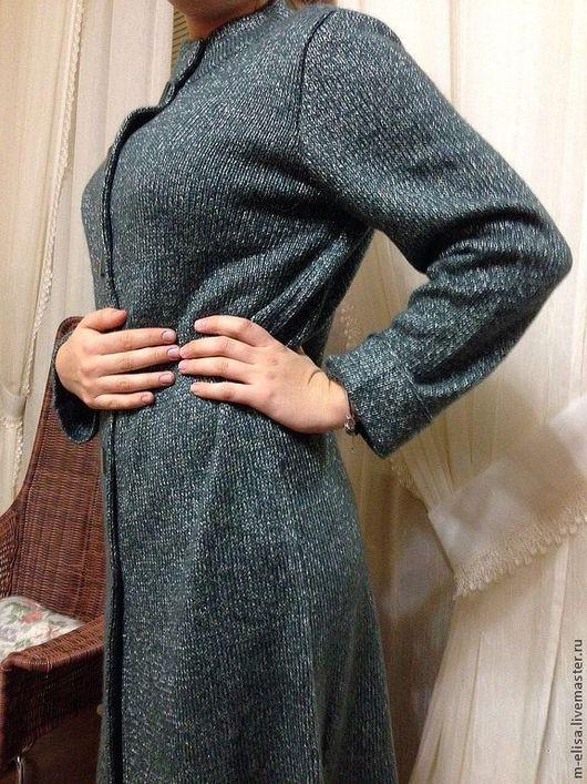 """Верхняя одежда ручной работы. Ярмарка Мастеров - ручная работа. Купить Вязаное пальто спицами """"Серебристый мох"""". Handmade. кардиган"""