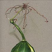 Картины и панно ручной работы. Ярмарка Мастеров - ручная работа картина пастелью Зеленая тыква с долькой. Handmade.