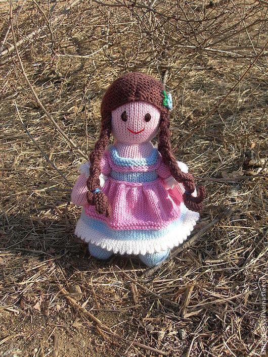 Человечки ручной работы. Ярмарка Мастеров - ручная работа. Купить Вязаная кукла из шерсти Лапуся. Handmade. Вязаная игрушка