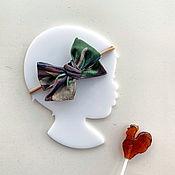 Работы для детей, handmade. Livemaster - original item Child meditates, wearing Velvet bow Camo. Handmade.