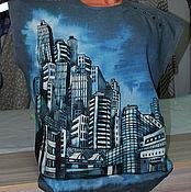 """Одежда ручной работы. Ярмарка Мастеров - ручная работа Мужская рубашка """"Современный город"""" из серого льна. Handmade."""