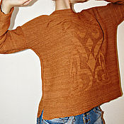 """Одежда ручной работы. Ярмарка Мастеров - ручная работа Вязаный джемпер """"Солнечная лилия"""". Handmade."""