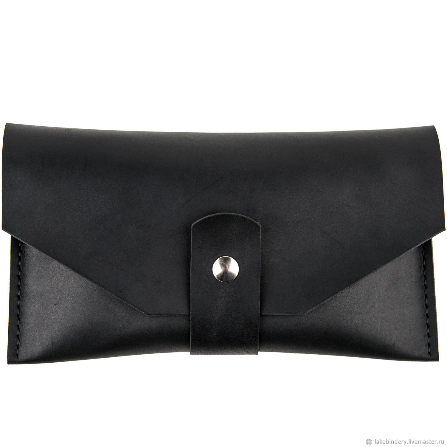 Leather bag sewn by hand-stitch genuine leather Crazy Horse, Clutches, Moscow,  Фото №1