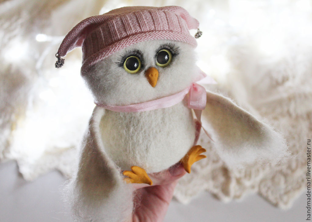 The owl hat Sonia toy from wool, Felted Toy, Moscow,  Фото №1