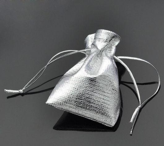 Упаковка ручной работы. Ярмарка Мастеров - ручная работа. Купить Мешочек подарочный. Handmade. Серебряный, мешок, для упаковки, для украшений