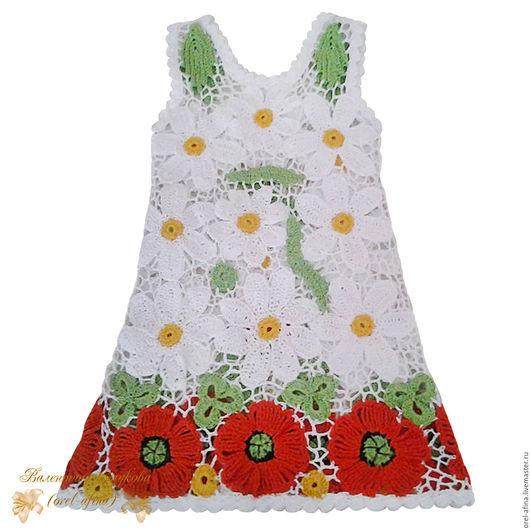 Одежда для девочек, ручной работы. Ярмарка Мастеров - ручная работа. Купить Вязаное детское платье Лесная поляна. Handmade. Разноцветный