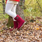 """Обувь ручной работы. Ярмарка Мастеров - ручная работа Сапоги-валенки """"Бордо"""". Handmade."""