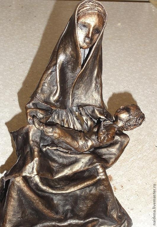 """Статуэтки ручной работы. Ярмарка Мастеров - ручная работа. Купить Статуэтка """"Материнство"""". Handmade. Коричневый, мать и дитя, сувениры и подарки"""