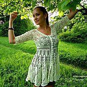 Одежда ручной работы. Ярмарка Мастеров - ручная работа Платье-кардиган. Handmade.