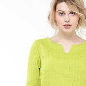 handmade. Livemaster - original item Bright spring tunic made of 100% linen. Handmade.