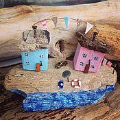 Для дома и интерьера handmade. Livemaster - original item Driftwood Village houses twin Peaks. Handmade.