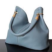 Сумки и аксессуары handmade. Livemaster - original item Granville Blue Leather, Elegant Women`s Handbag. Handmade.
