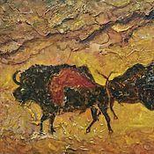 Картины и панно handmade. Livemaster - original item Ethno pattern with the bulls - a man`s gift Taurus. Handmade.