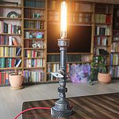 """Для дома и интерьера handmade. Livemaster - original item Настольная лампа из водопроводных труб """"Кэндл"""". Handmade."""