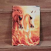 """Канцелярские товары ручной работы. Ярмарка Мастеров - ручная работа обложка """"Лошади"""". Handmade."""
