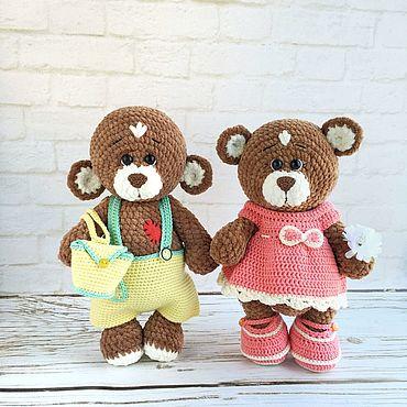 Куклы и игрушки ручной работы. Ярмарка Мастеров - ручная работа Мастер-класс: Мишка плюшевый крючком медведь в одежде крючком. Handmade.