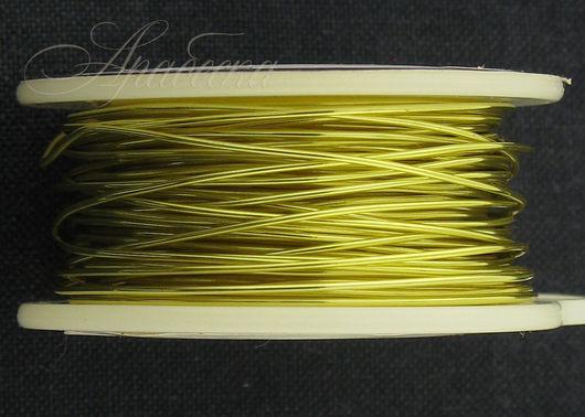 Проволока медная 0.64мм (22ga) цвета шампанское золото BEADSMITH (США)